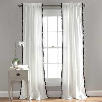 Brannon Solid Color Semi-Sheer Rod Pocket Curtain Panel - AllModern
