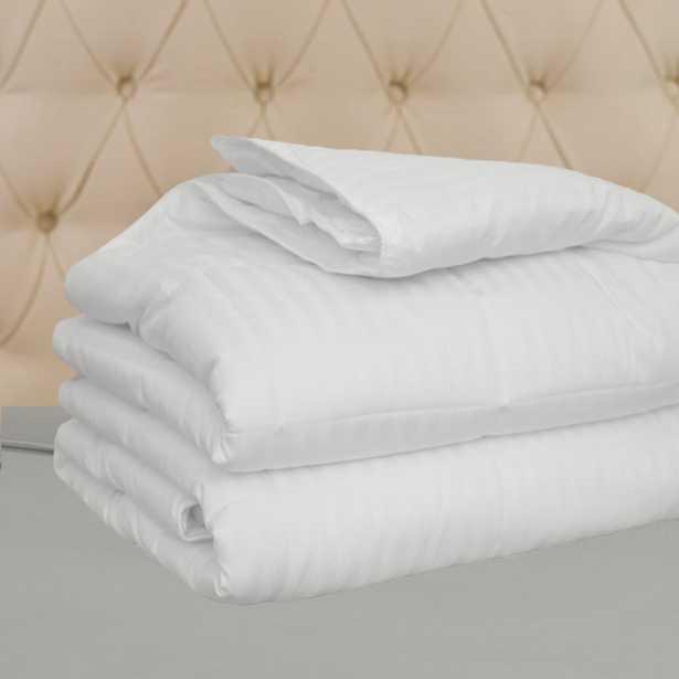 Natural Comfort Hotel Select 250TC Down Alternative White Oversize Comforter, Duvet Cover Insert, Queen - Home Depot