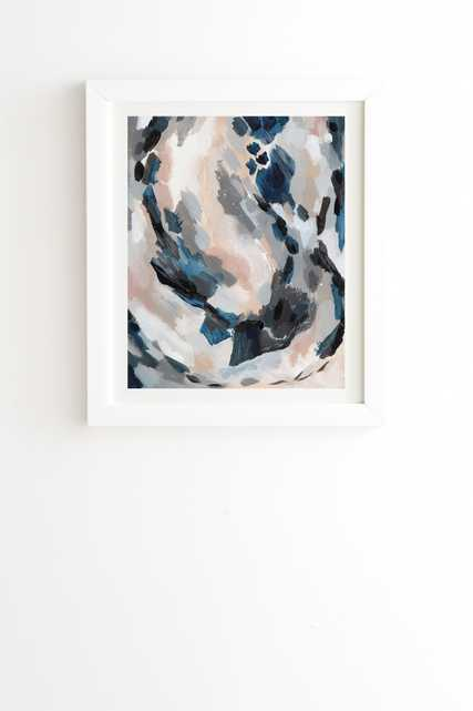 """Parchment Abstract Two by Laura Fedorowicz - Framed Wall Art Basic White 20"""" x 20"""" - Wander Print Co."""