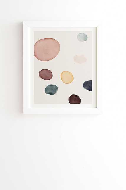 "Peace by Djaheda Richers - Framed Wall Art Basic White 8"" x 9.5"" - Wander Print Co."