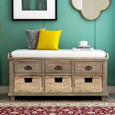 Dabbs Drawers Storage Bench - Wayfair