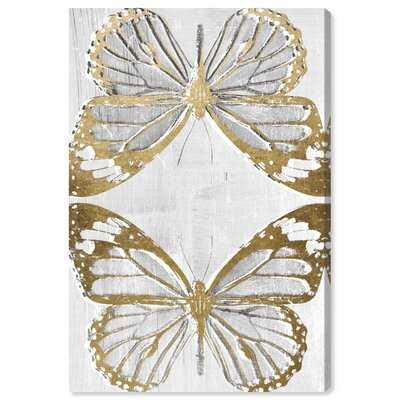 'Golden Butterflies' Framed Graphic Art - Wayfair