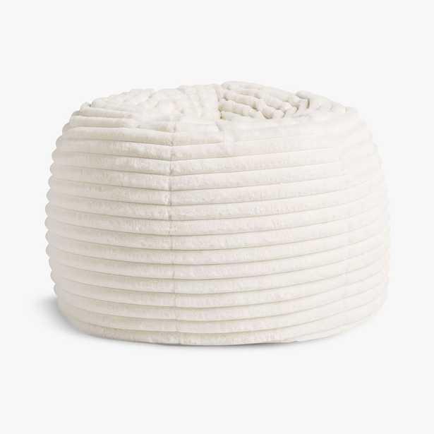 Channel Cloud Ivory Faux Fur Bean Bag Chair Slipcover + Insert, Medium - Pottery Barn Teen
