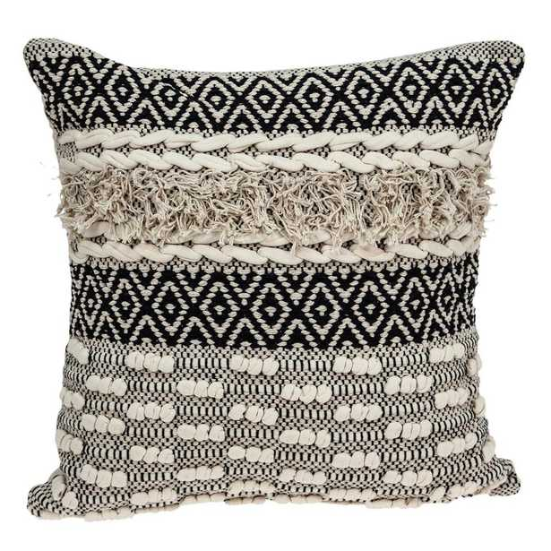 PARKLAND COLLECTION Bolo Bohemian Beige Down Filled Throw Pillow - Home Depot
