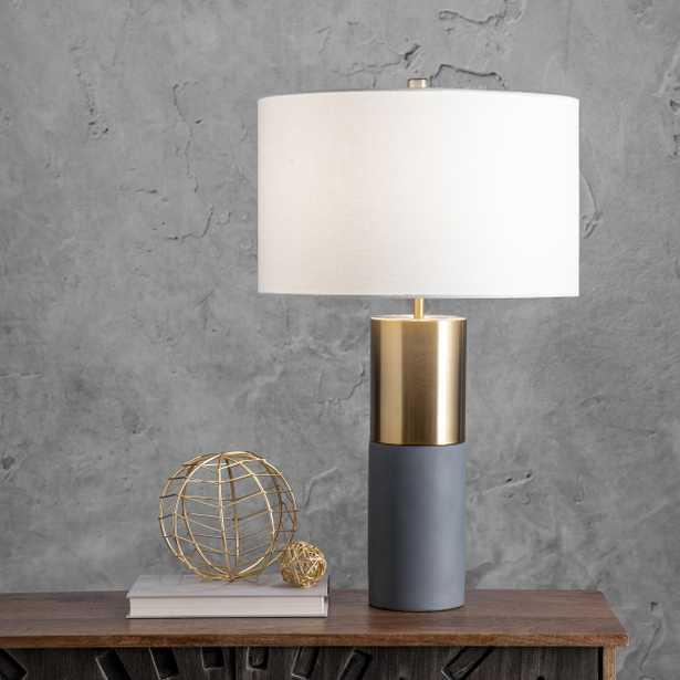 """Wilmot 24"""" Concrete & Iron Table Lamp - Loom 23"""