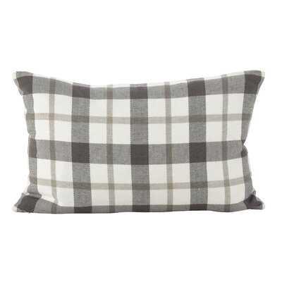 Tywonne Classic Plaid Print Cotton Down Lumbar Pillow - Birch Lane