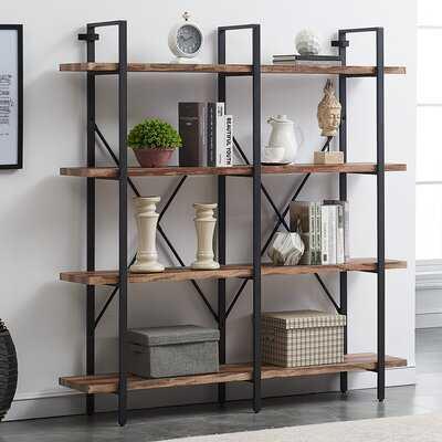 Khat Double Etagere Bookcase - Wayfair