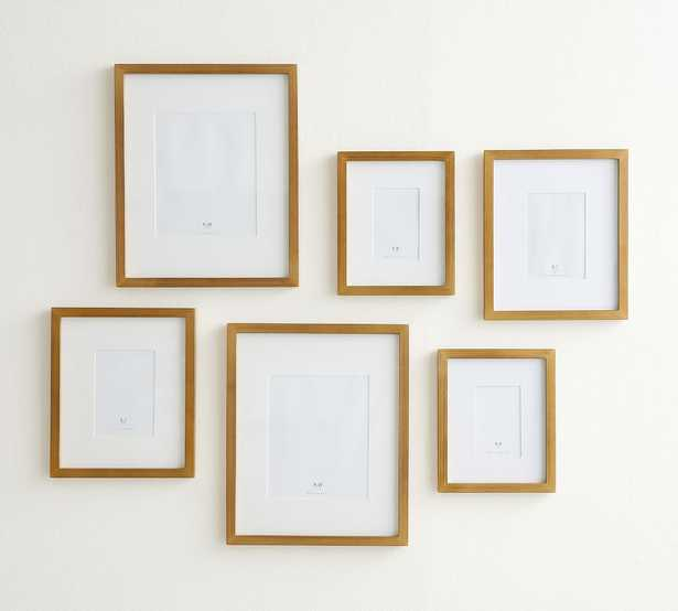Gilt Wood Gallery Frames in a Box, Gold, Set of 6 - Pottery Barn