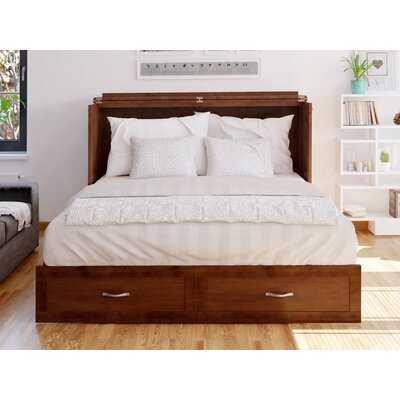 Audet Queen Storage Murphy Bed with Mattress - Wayfair