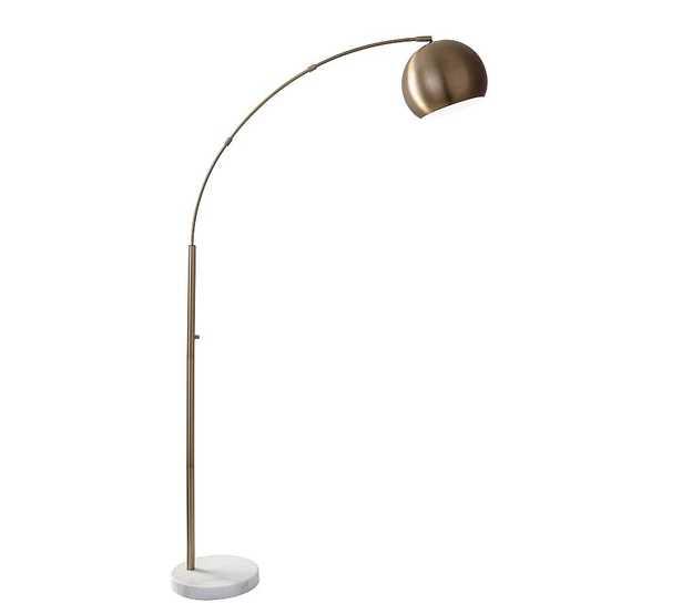 Nella Arc Sectional Floor Lamp, Brass - Pottery Barn
