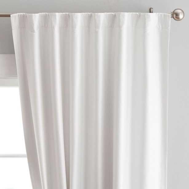 "Monique Lhuillier Silk Blackout Curtain Panel, 44"" x 84"", Ivory - Pottery Barn Teen"