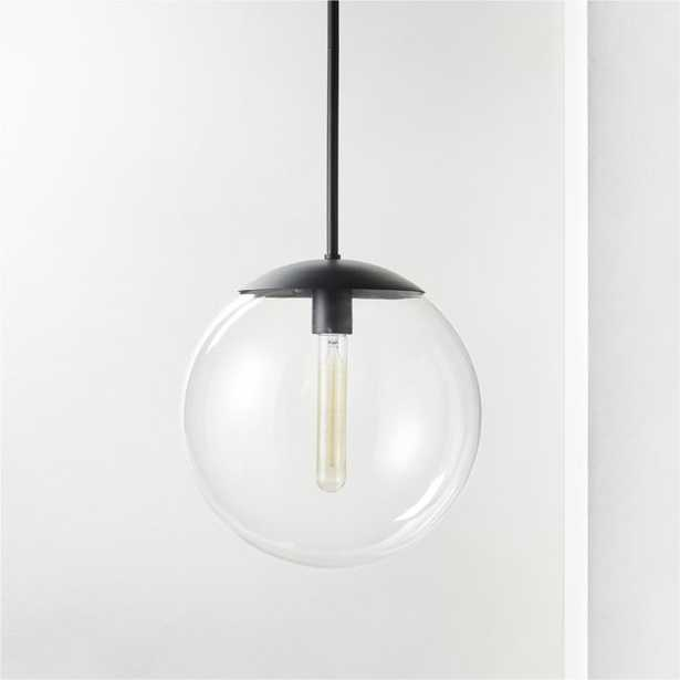 Vega Indoor-Outdoor Black Pendant Light - CB2