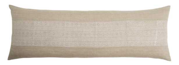 Oatha Lumbar Pillow, Natural - Lulu and Georgia