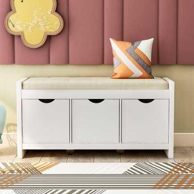 Navarette Cabinet Storage Bench - Wayfair