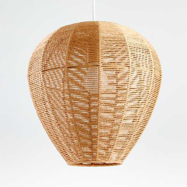 Linen Woven Rope Pendant - Crate and Barrel