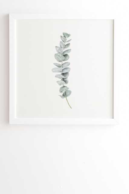 "Mint Eucalyptus by Sisi and Seb - Framed Wall Art Basic White 20"" x 20"" - Wander Print Co."