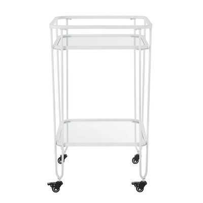 Maisonet Metal and Glass Bar Cart - AllModern