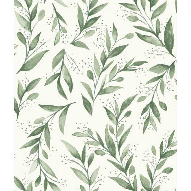 Magnolia Home by Joanna Gaines 34 sq ft Magnolia Home Olive Branch Peel and Stick Wallpaper, Olive Grove - Home Depot