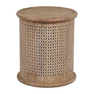 Tuzluca Solid Wood Drum End Table - Wayfair