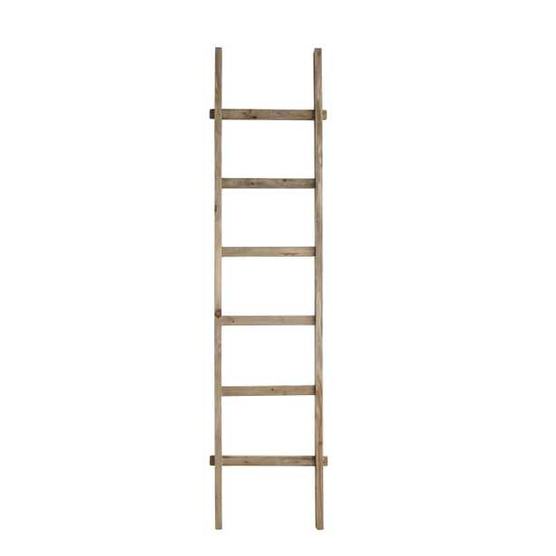 """Rustic 76.75""""H Decorative Fir Wood Ladder with 6 Rungs - Nomad Home"""