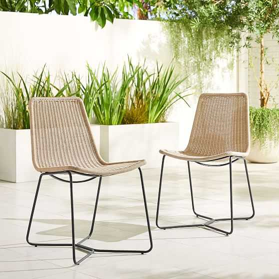 Slope Outdoor Dining Chair, Natural, Set of 4 - West Elm