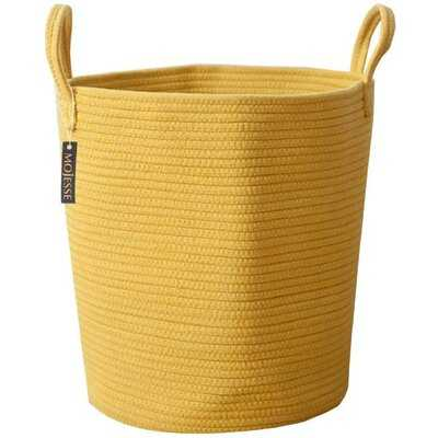 Large Baskets For Blankets,Soft Cotton Rope Woven Storage Baskets With Strong Handles,Perfect For Nursery Laundry Basket,Kids Toy Hamper, Throw Blanket Basket For Living Room - Wayfair