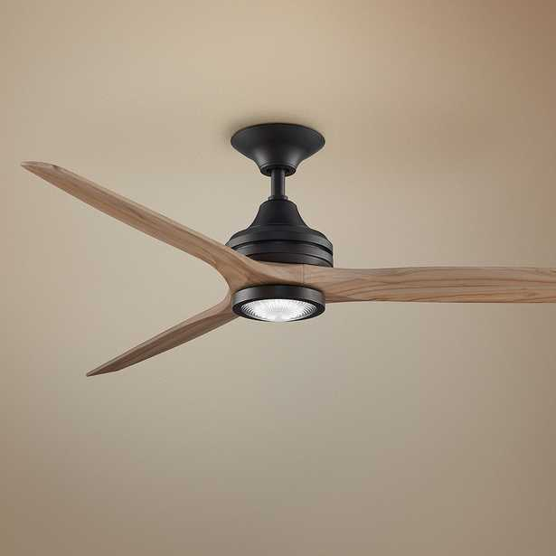 """60"""" Spitfire Dark Bronze and Natural LED Ceiling Fan - Style # 71M51 - Lamps Plus"""