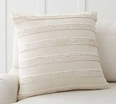 """Damia Textured Pillow Cover, 22 x 22"""", Ivory Multi - Pottery Barn"""