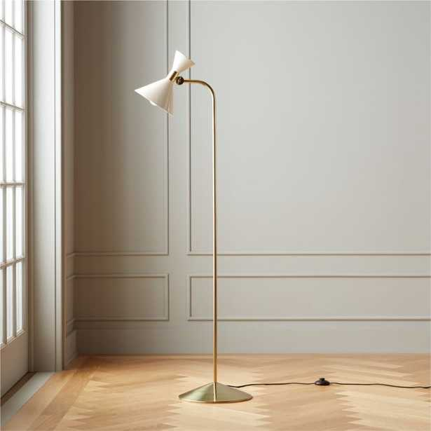 Hicks Ivory Floor Lamp - CB2