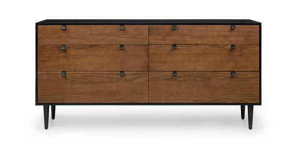 Envelo Black / Walnut 6 Drawer Double Dresser - Article