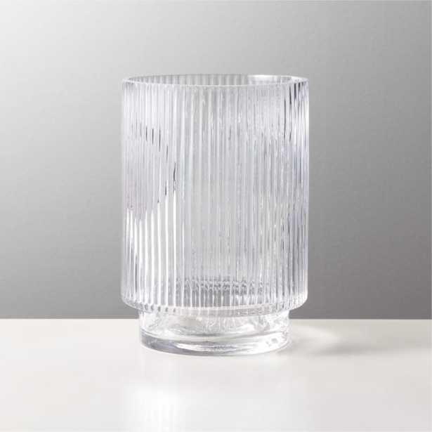 Dina Fluted Glass Vase - CB2