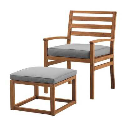 Lyall Patio Chair with Cushions and Ottoman - AllModern