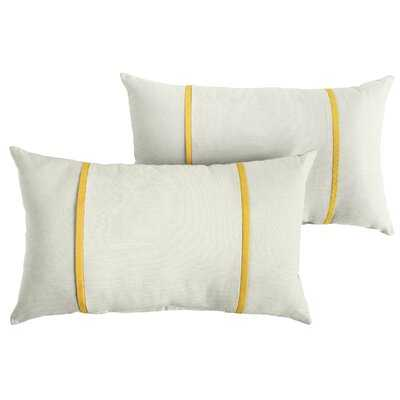 Churchton Acrylic Indoor/Outdoor Striped Lumbar Pillow - Wayfair