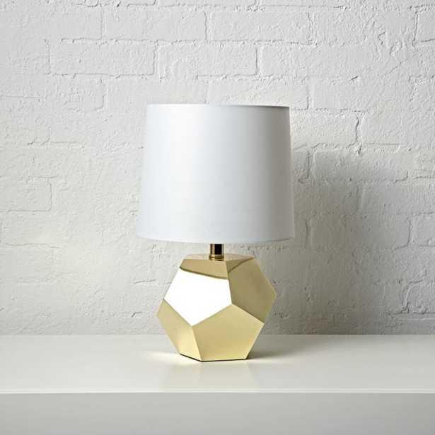 Geometric Gold Lamp - Crate and Barrel