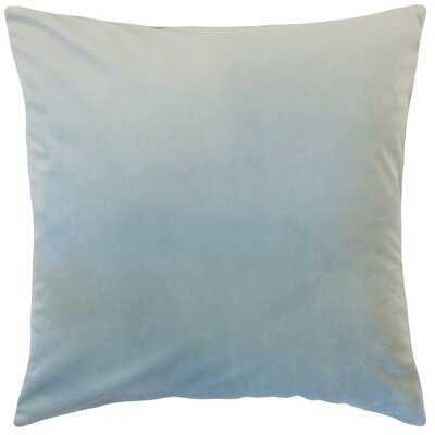 Velvet Polyester Solid Color Square 18'Velvet Throw Pillow Cover & Insert - Birch Lane