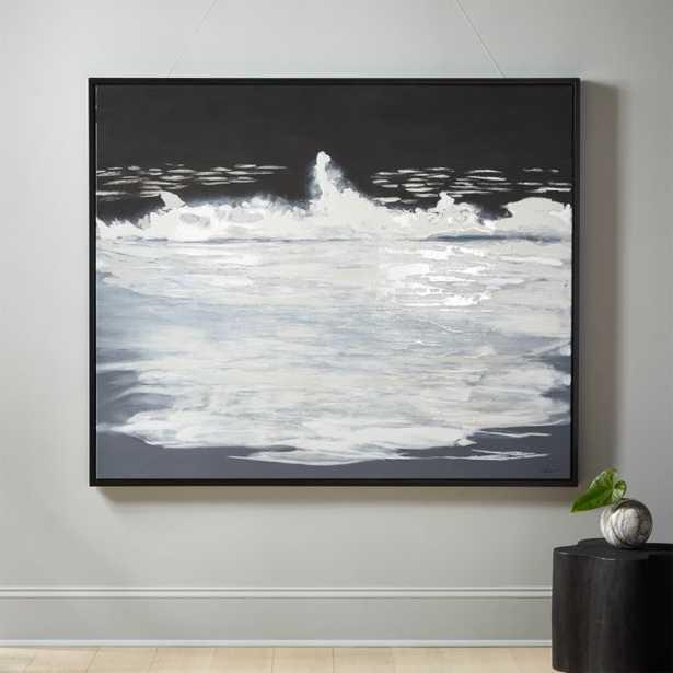 Black Ocean Painting - CB2