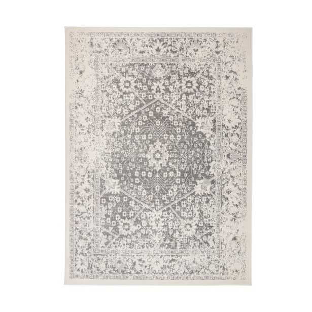 World Rug Gallery Distressed Floral Traditional 5'x7' Gray Area Rug - Home Depot