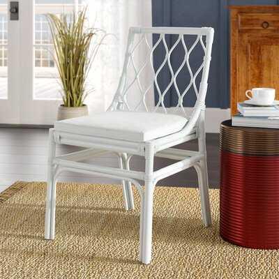 Chearsley Upholstered Cross Back Side Chair - Wayfair