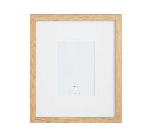 Wood Gallery Single Opening Frame - 5x7 (11x13 Without Mat) - Natural - Pottery Barn