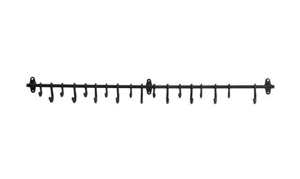 Decorative Forged Metal Wall Rod with 18 Hooks - Nomad Home