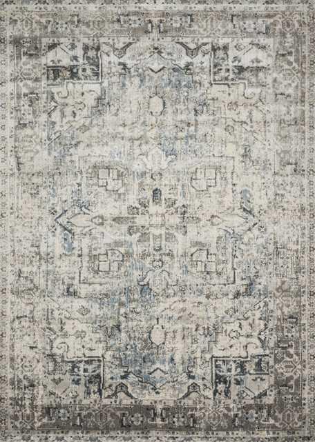 "Loloi Anastasia AF-20 Blue / Slate 6'-7"" x 9'-2"" - Loma Threads"