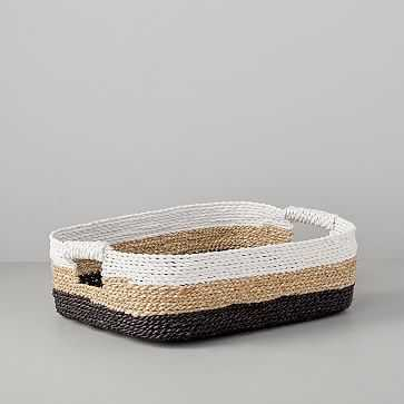 Storage Basket, Underbed, White/Natural/Peppercorn - West Elm