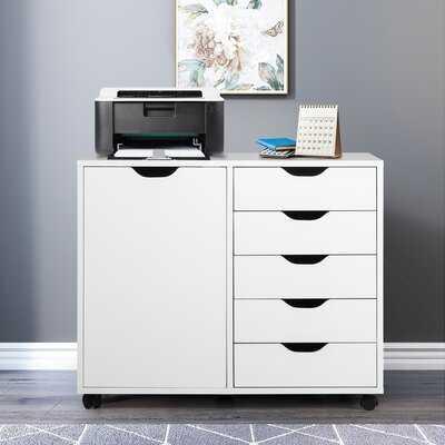 5 Drawer and 1 Door Accent Cabinet - Wayfair
