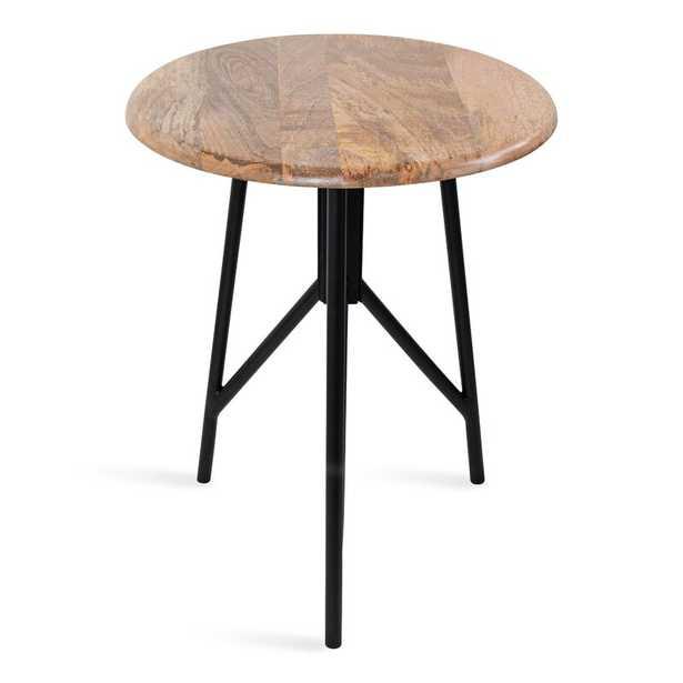 Eklund Round Wood Side Table, Natural - Wayfair