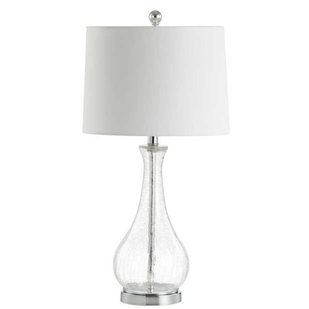 Safavieh Finnley 27.5 in. Crack Clear Table Lamp - Home Depot