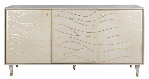 Broderick Antique Gold Wave Sideboard - White - Arlo Home - Arlo Home