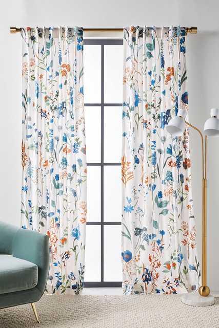 """Layne Velvet Curtain, 108"""" - Anthropologie"""