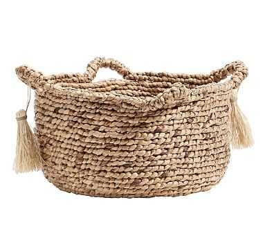 Palma Round Handled Seagrass Basket, Large - Pottery Barn