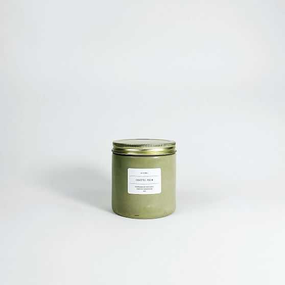 SETTLEWELL Concrete Candle, Sage - West Elm