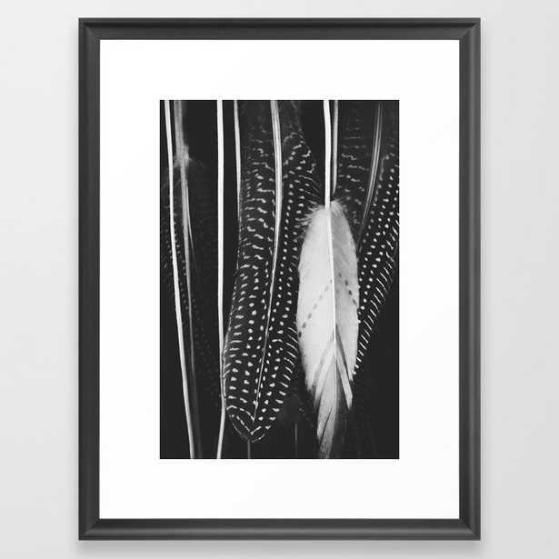 Boho Feathers Framed Art Print by Ingrid Beddoes Photography - Scoop Black - MEDIUM (Gallery)-20x26 - Society6